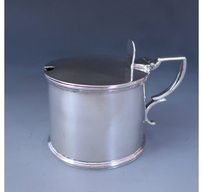 Antique Silver George III Mustard pot made in 1795