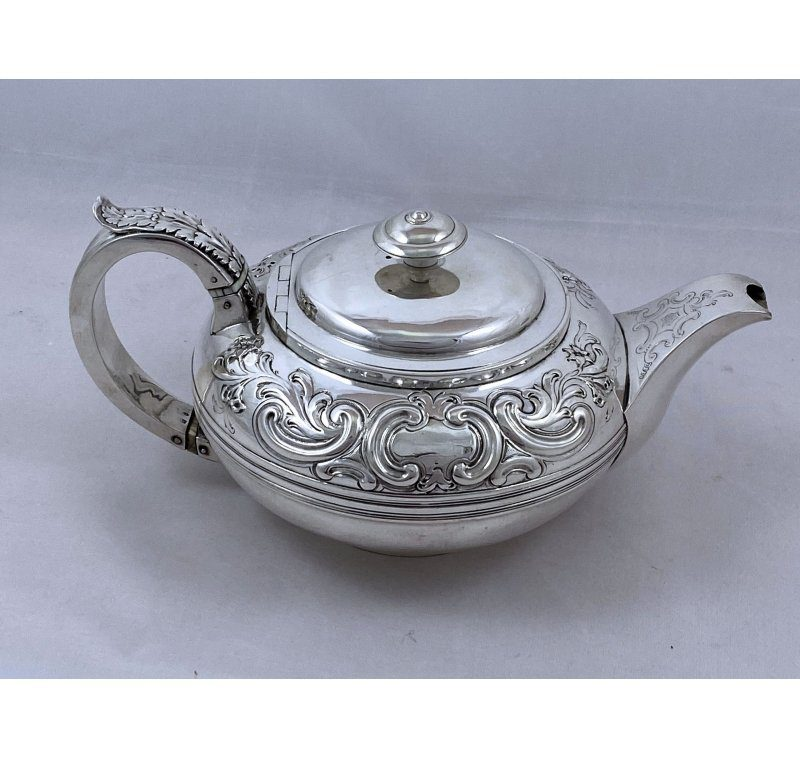 Antique Silver George III Rare Teapot made in 1818