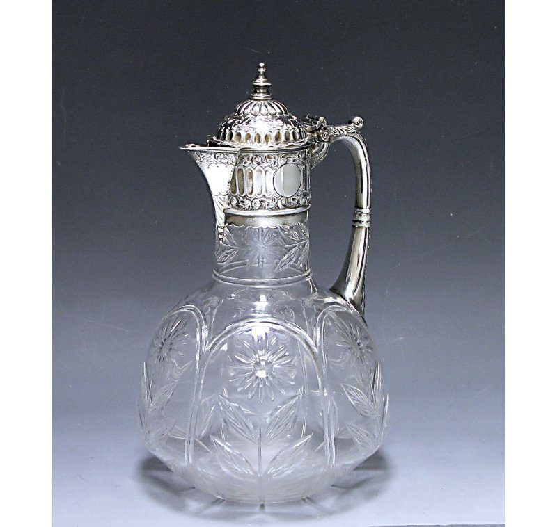 Antique Silver Victorian Claret Jug made in 1889