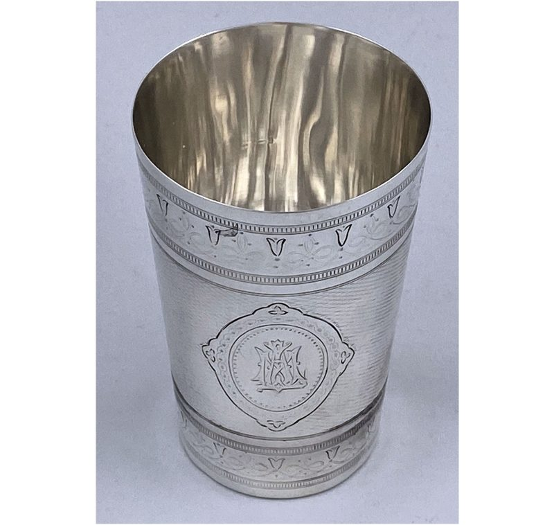 Antique Silver Victorian Beaker made in 1874