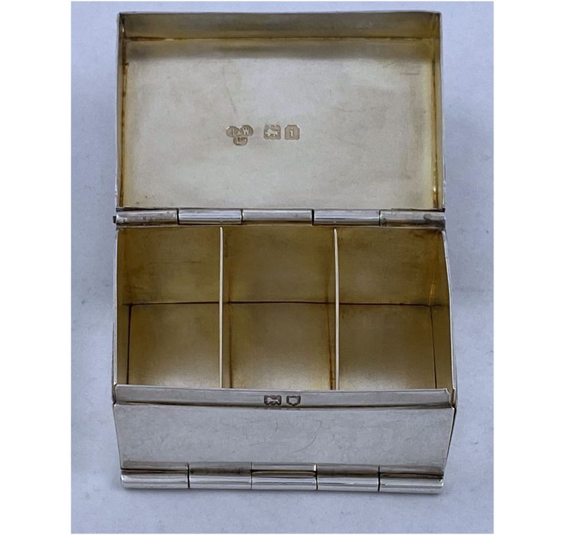 Antique Silver Edward VII Stamp Box made in 1904