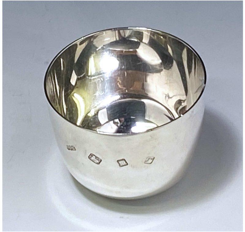 Sterling Silver Elizabeth II Tumbler Cup made in 1972