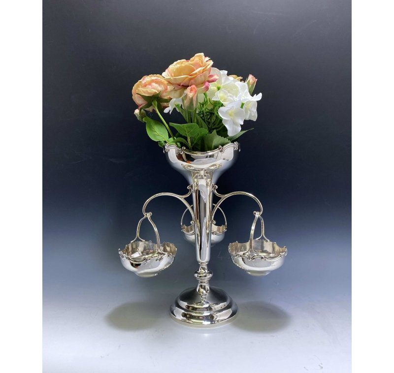 Antique Silver George V Art Deco Epergne Centrepiece made in 1927